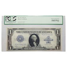 1923 Pcgs 58PPQ $1 Silver Certificate Fr. 237