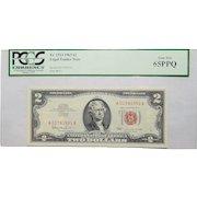 1963 Pcgs 65PPQ $2 Legal Tender Note Fr. 1513