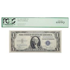 1935C Pcgs 65PPQ $1 Silver Certificate Fr. 1612