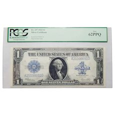 1923 Pcgs 62PPQ $1 Silver Certificate Fr. 237