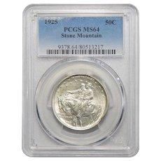1925 Pcgs MS64 Stone Mountain Half Dollar