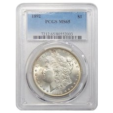 1892 Pcgs MS65 Morgan Dollar