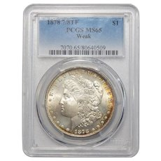 1878 7/8TF Weak Pcgs MS65 Morgan Dollar