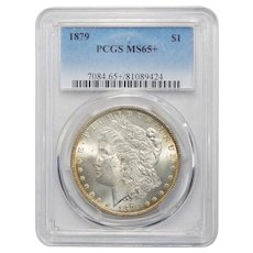 1879 Pcgs MS65+ Morgan Dollar