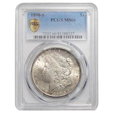 1890-S Pcgs MS66 Morgan Dollar