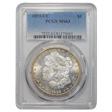 1893-CC Pcgs MS63 Morgan Dollar