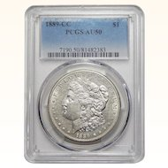 1889-CC Pcgs AU50 Morgan Dollar