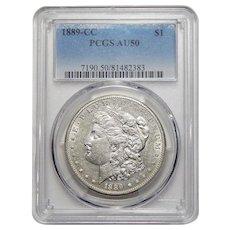 1889-CC Pcgs AU50 Morgan Dollar