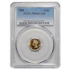 1888 Pcgs PR66CAM Gold Dollar