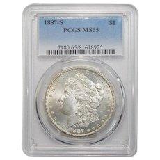 1887-S Pcgs MS65 Morgan Dollar