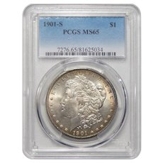 1901-S Pcgs MS65 Morgan Dollar