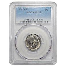 1925-D Pcgs MS65 Buffalo Nickel