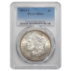 1892-CC Pcgs MS64 Morgan Dollar