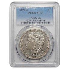 1893-S Pcgs XF45 California Morgan Dollar