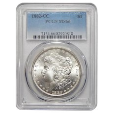 1882-CC Pcgs MS66 Morgan Dollar