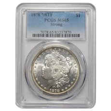 1878 7/8TF Strong Pcgs MS65 Morgan Dollar