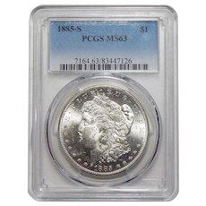 1885-S Pcgs MS63 Morgan Dollar