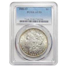 1886-O Pcgs AU55 Morgan Dollar
