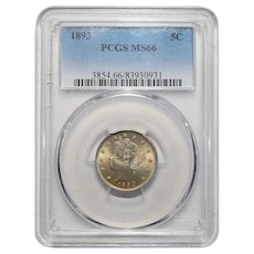 1893 Pcgs MS66 Liberty Head Nickel