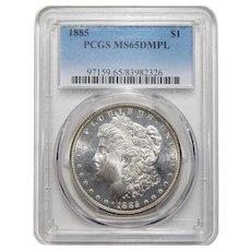 1885 Pcgs MS65DMPL Morgan Dollar