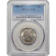 1899-O Pcgs AU58 Barber Quarter