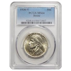 1936-S Pcgs MS64 Boone Half Dollar