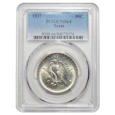 1937 Pcgs MS64 Texas Half Dollar