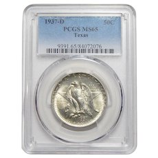 1937-D Pcgs MS65 Texas Half Dollar