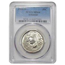 1936-D Pcgs MS64 Arkansas Half Dollar