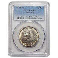 1935-D Pcgs MS64 Arkansas Half Dollar