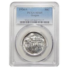 1926-S Pcgs MS65 Oregon Half Dollar