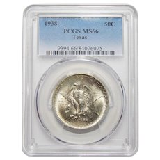1938 Pcgs MS66 Texas Half Dollar