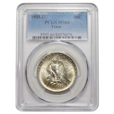 1938-D Pcgs MS66 Texas Half Dollar