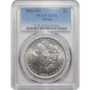 1882-O/S Pcgs AU58 Strong Morgan Dollar