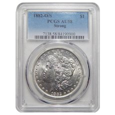 1882-O/S Pcgs AU58 Strong Morgan Dollar