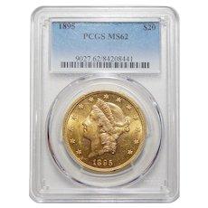 1895 Pcgs MS62 $20 Liberty Head Gold