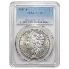 1887-S Pcgs AU55 Morgan Dollar