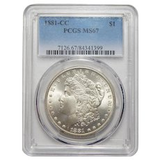 1881-CC Pcgs MS67 Morgan Dollar