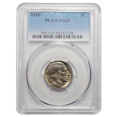 1916 Pcgs PR65 Buffalo Nickel