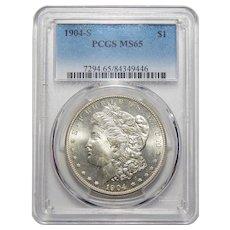 1904-S Pcgs MS65 Morgan Dollar