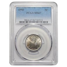"1903 Pcgs MS67 Liberty ""V"" Nickel"