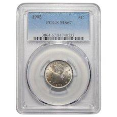 "1903 Pcgs MS67 Liberty ""V"" Nickel"