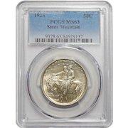 1925 Pcgs MS63 Stone Mountain Half Dollar