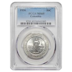 1936 Pcgs MS65 Columbia Half Dollar