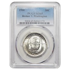 1946 Pcgs MS65 Booker T. Washington Half Dollar