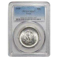 1935 Pcgs MS67 Texas Half Dollar