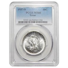 1937-S Pcgs MS66 Texas Half Dollar