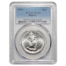 1920 Pcgs MS63 Pilgrim Half Dollar