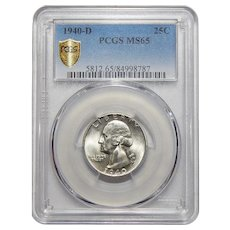 1940-D Pcgs MS65 Washington Quarter