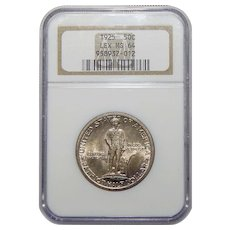 1925 Ngc MS64 Lexington Half Dollar